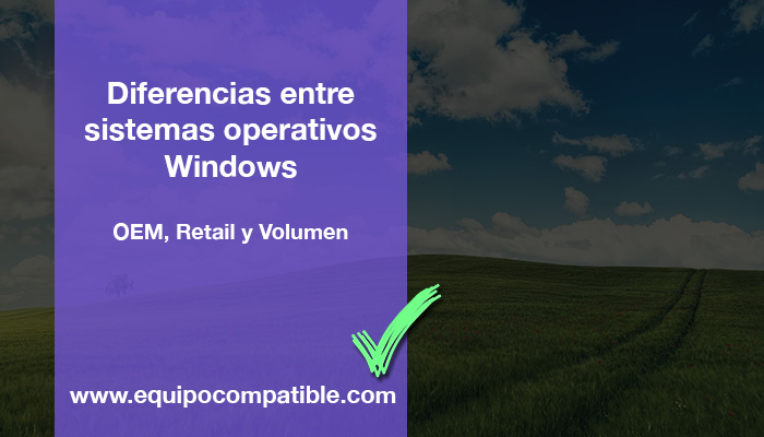Diferencias entre sistemas operativos Windows