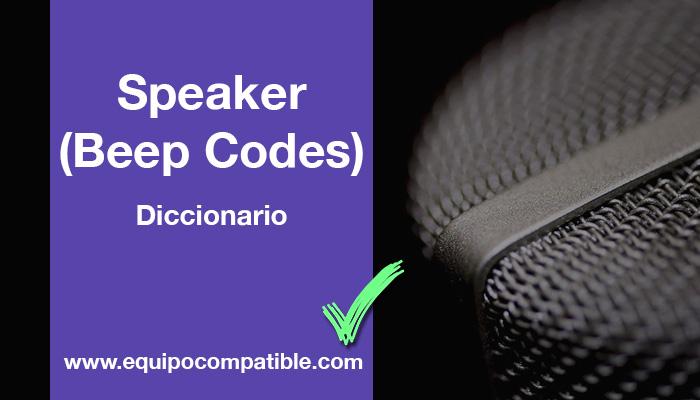 Speaker Beeps Codes