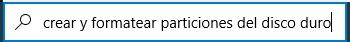 Crear y formatear particiones del disco duro en Windows 10
