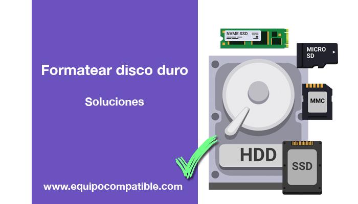 formatear disco duro