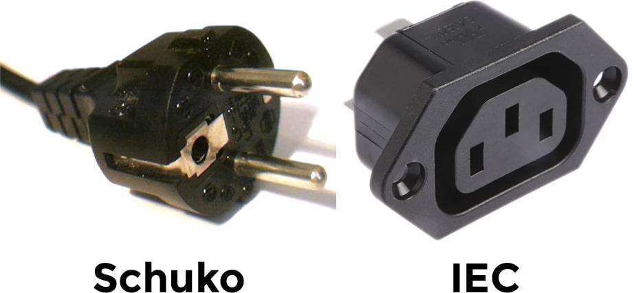 conexion schuko vs iec